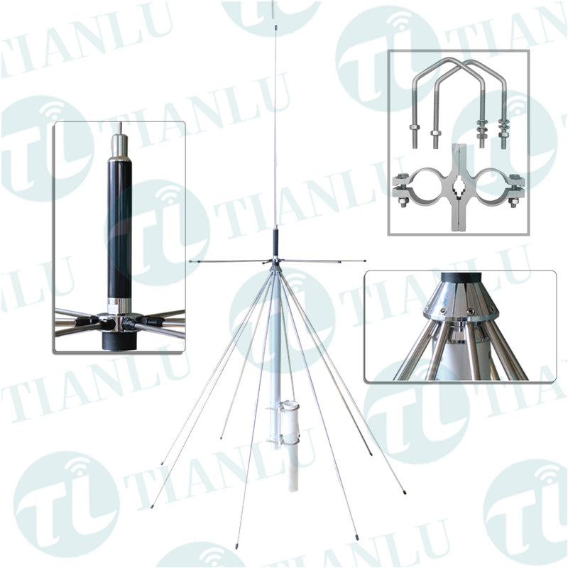 Diamond omnidirectional D130 super discone HF broadband 25-1300mhz base station antenna