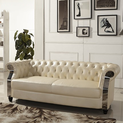 Bauhaus Furniture Replica Yellow Mustard Leather Sofa