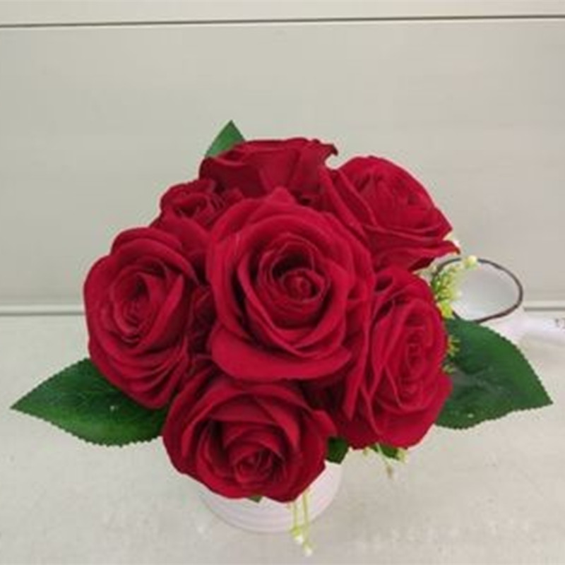 Inexpensive Flowers For Wedding Bouquets: Low Price Hand Elegant Pink Artificial Flowers Cheap