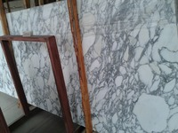 Cheap Price Polished Italian Big Flower White Marble Tiles
