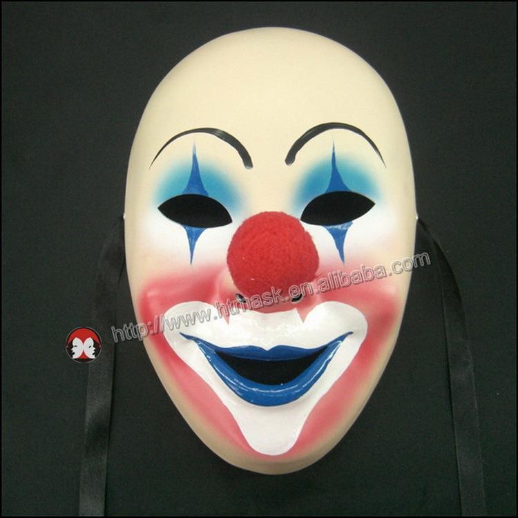 Hot Sales Clown Prince Of Crime Rigid Plastic Clown Mask Cartoon