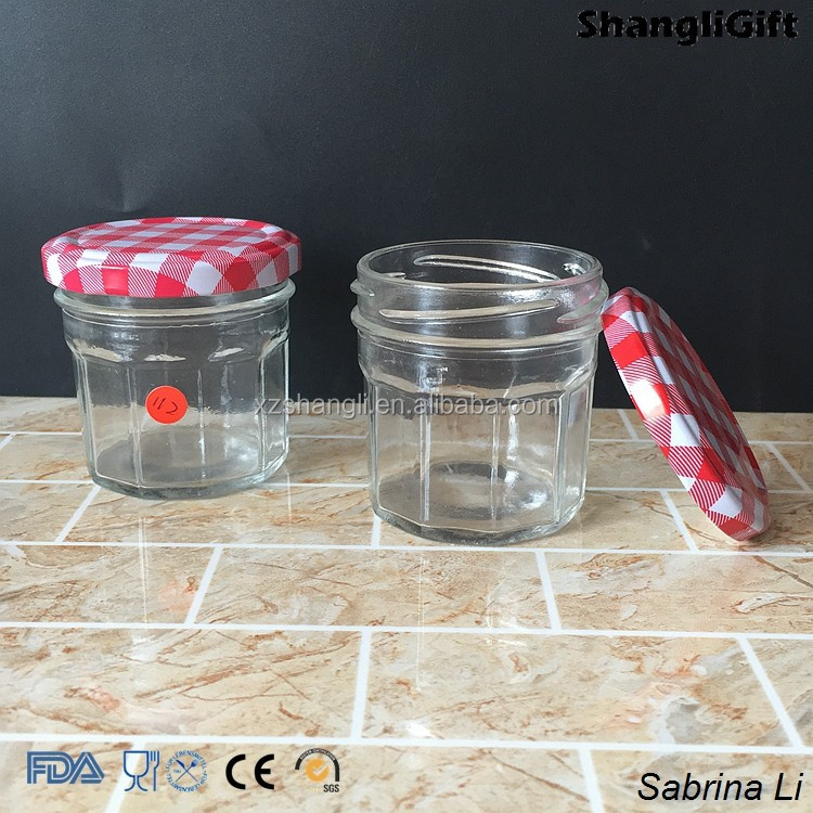 glass food jars clear color series size with lids 35ml 100ml 150ml 200ml 300ml 450ml
