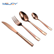 Brass flatware set knife fork and spoon tableware cutlery