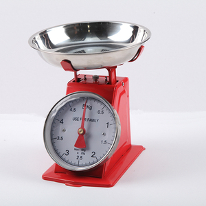 Home use stainless steel tray platform mechanical scale spring dial scales kitchen weighing scalese PT-283