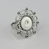 Guangzhou antique cameo settings for ring metal alloy jewelry findings supplier