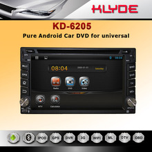 "KLYDE Good Quality 7"" Touch Screen Car DVD With GPS Navigation Bluetooth Radio IPOD for double din universal with android 4.2.2"