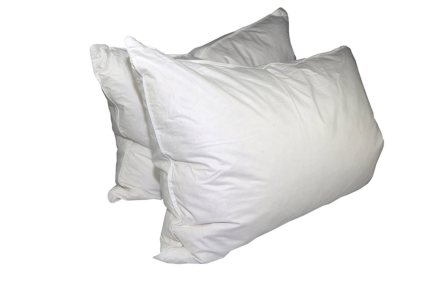 Get Quotations · 75% White Goose Feather / 25% White Goose Down King Pillow  Set (2