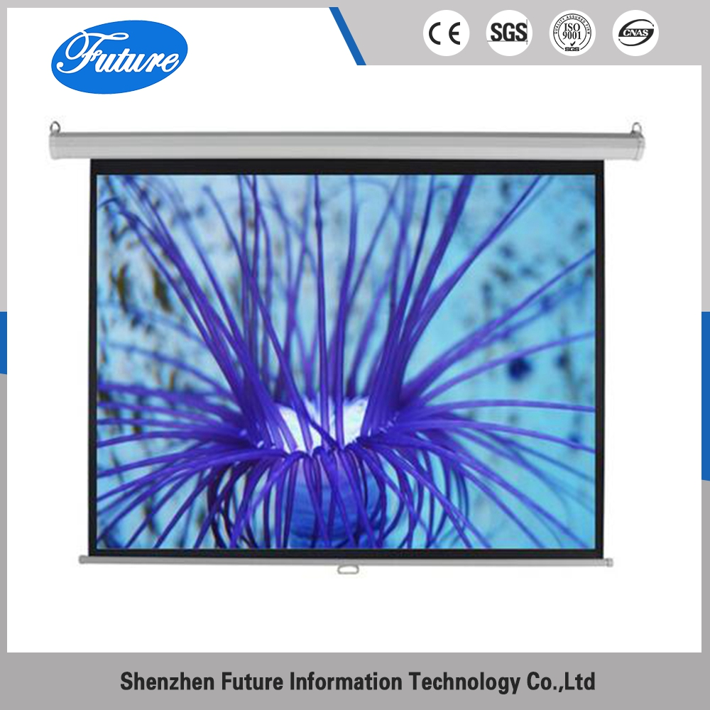 customize ISO floor 120 manual projector 16x9 projection screen