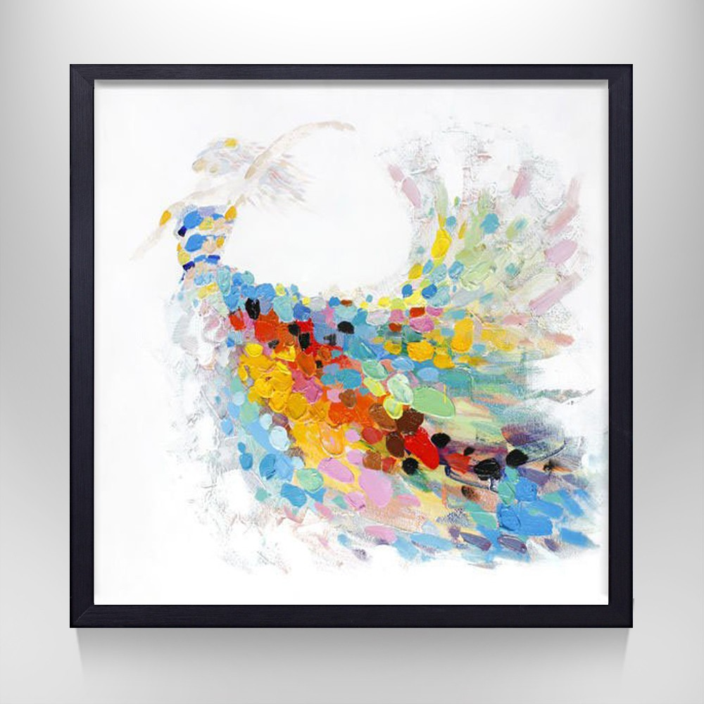 Processing customized best choice modern frame abstract art oil painting