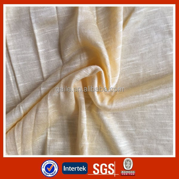 100% Rayon Slub Jersey knitted fabric