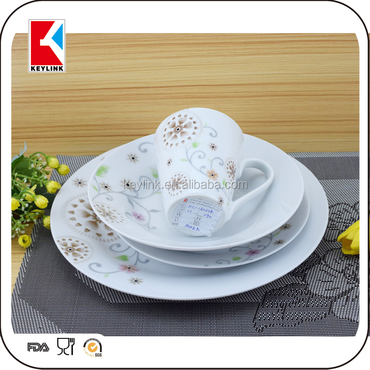 High Quality Cheap Price Tabelware 16Pcs Living Art Dinner Set Porcelain Wholesale