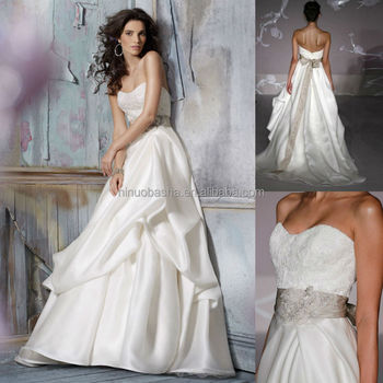 Chic 2015 Bridal Ball Gown Wedding Dress Semi Sweetheart Neckline ...