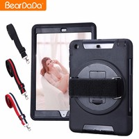 Best Selling 360 Degree Rotating hand strap case for ipad mini
