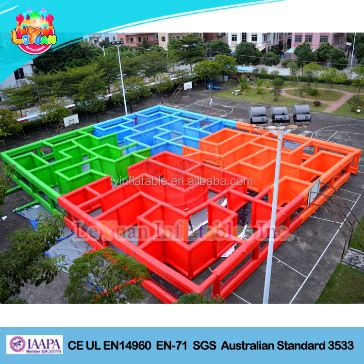 Giant Inflatable Laser Tag Arena Large Inflatable Maze