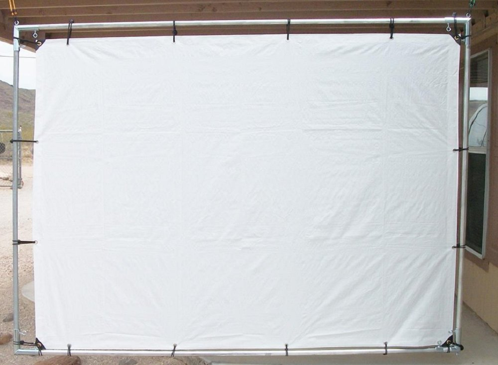 """8' x 10' OUTDOOR HANGING HOME THEATER PROJECTION MOVIE SCREEN KIT ~ 3/4"""" Fitting"""