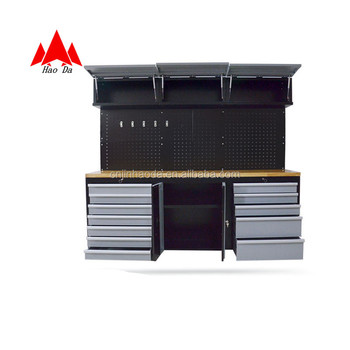 Professional Tool Cabinet Working Table Wooden Box Workbench