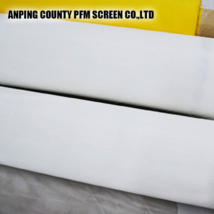 China white and yellow 50micron polyester silk screen printing mesh