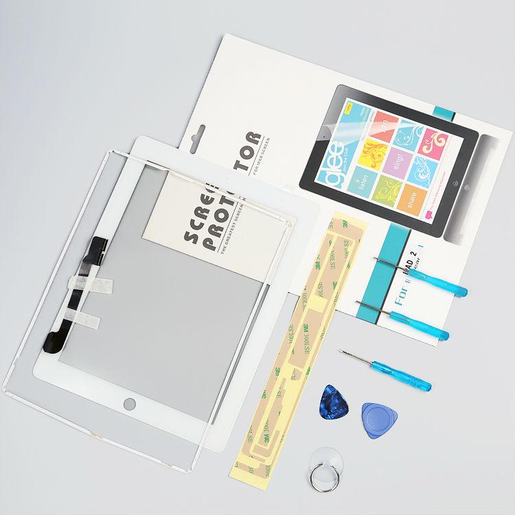 Новый сенсорный экран планшета замены стекла бесплатная доставка бесплатная adhensive для Apple ipad 3 4 для ipad3 бесплатные инструменты