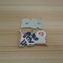 Hockey Sport Souvenir Gifts Items - Terrific Sportman Shaped Soft Enamel Design Metal Fridge Magnet in the Hockey Game