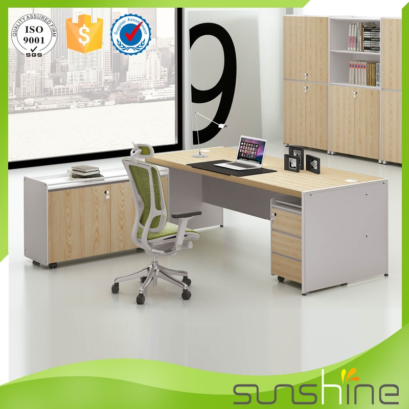 Sol muebles modernos de madera oficina contador dise o de for Muebles de oficina modernos precios