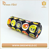 canvas pencil case happy face design pencil wrap for students