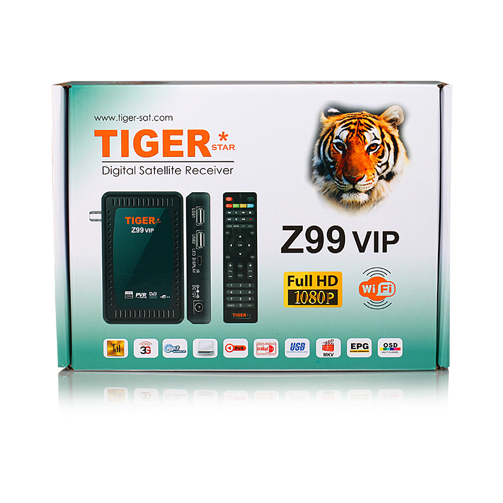 Tiger digital set top box Z99VIP free to air sat box support PVR support WIFI