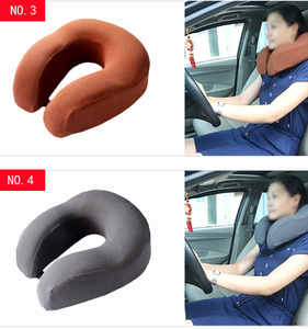 U shape car seat neck pillow made of memory foam for travelling and driving life
