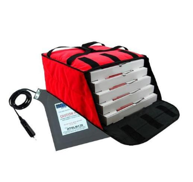 12V Thermoelectric Battery Powered Cooler Bags Takeout Food Electric Pizza Delivery Bag