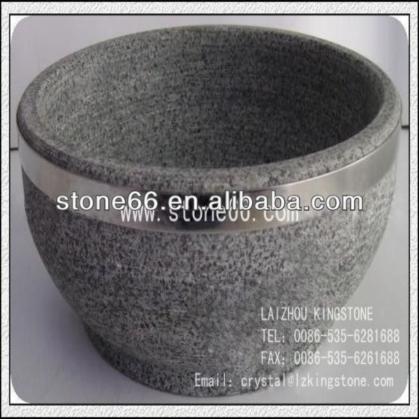 2014 HOT honed korea stone bowl with our own factory