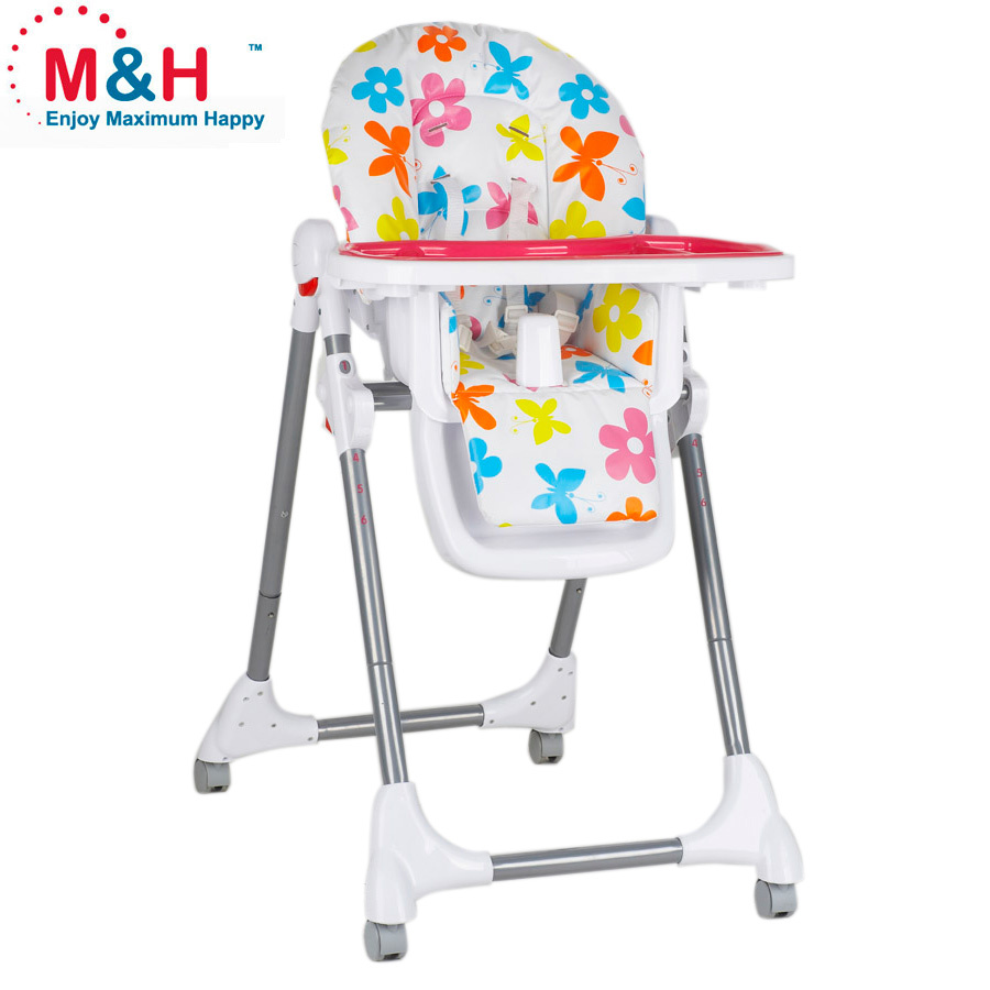 Fold baby high chair kids dinner chair popular style table chair for baby feeding