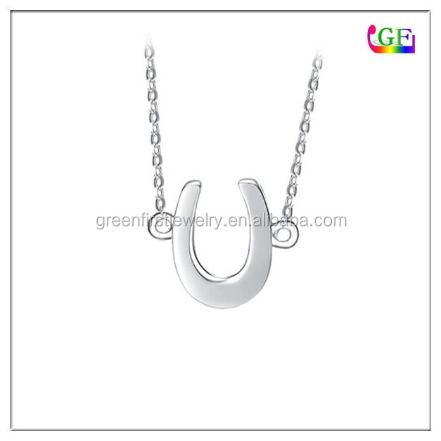 Tiny Silver plating Horse Shoe Necklace