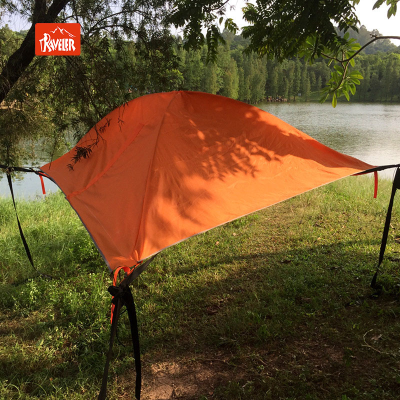 Outdoor Hikers Suspended Hammock Tree Tent House With Mosquito Net And Rain  Fly Cover Parachute Fabric Net Lightweight For Hiker