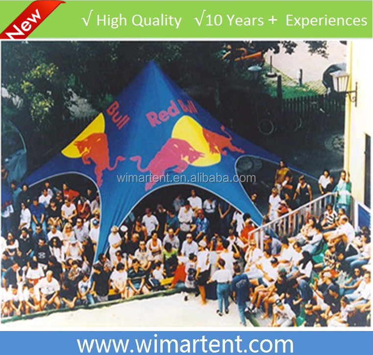 43ft Easy Up Red Bull Star Tent with Full Print