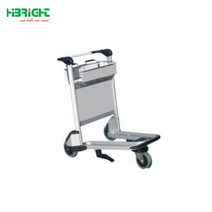 airport luggage trolley with hand brake