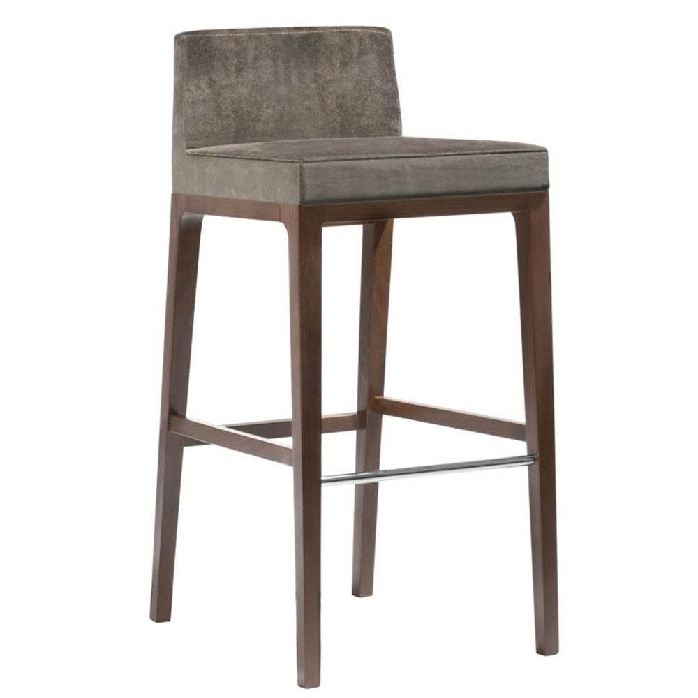 ARISA barstool Solid wood frame with stainless steel footrest bar chair restaurant furniture