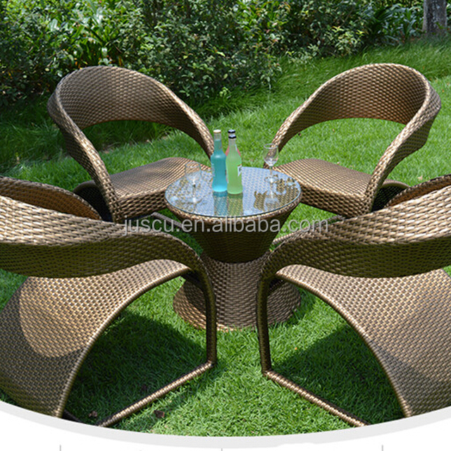 Outdoor Furniture Waterproof Rattan Meditation Chair With Table For Whole  Sale