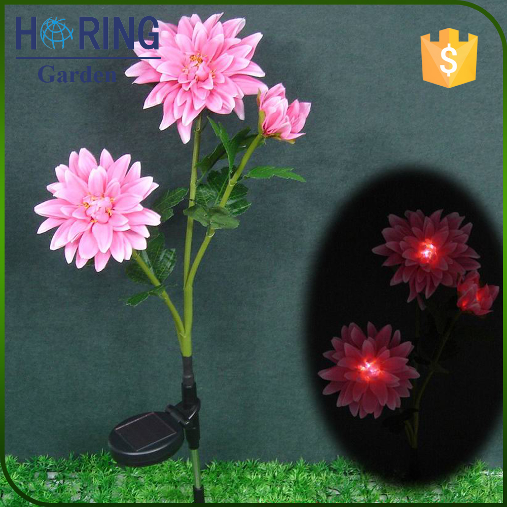 Yard Garden Path Way Solar Power Tulip Landscape Flower Lights