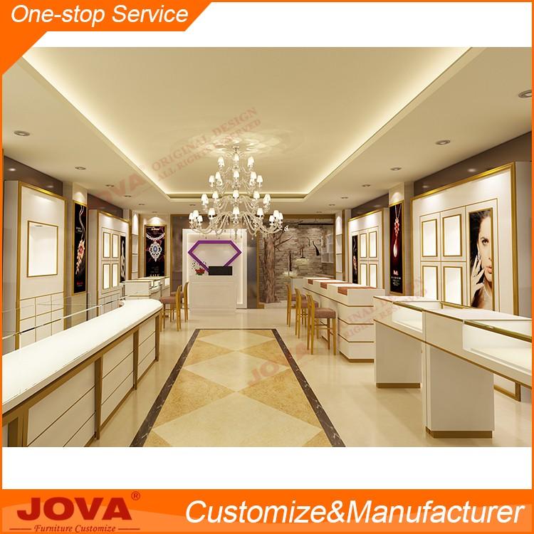 Original Custom Wood Glass Jewellery Display Showcase Design For