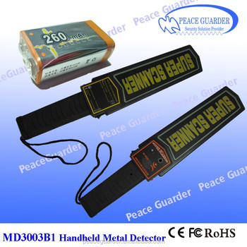 Leading manufacturer of Hand held metal detector Super scanner for airport security check MD-3003B1