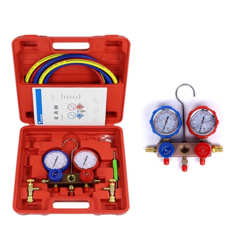 Refrigerator Repair Tool A/C Refrigeration Kit Manifold Gauge Set R410a Pressure rated