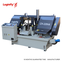 High Quality 320mm Double Column Fully Automatic Band Saw Machine For Steel Pipe Cutting