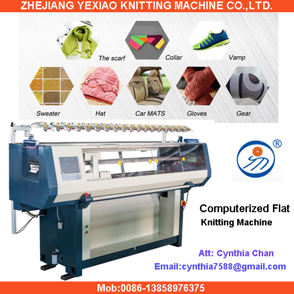 Flying Tiger Flat Seamless Interlock Hat And Scarf Knitting Machine