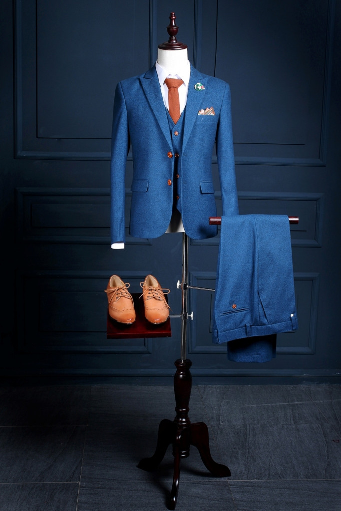 Custom Made Royal Blue Men Suit Tailor Made Bespoke Blue Wedding ...