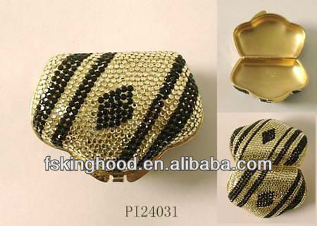 Wholesale small gold plating crystal trinket boxes from india