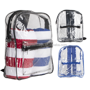 53c406a8dd51 Beegreen Large Clear Plastic School Tote Backpack - Buy School ...