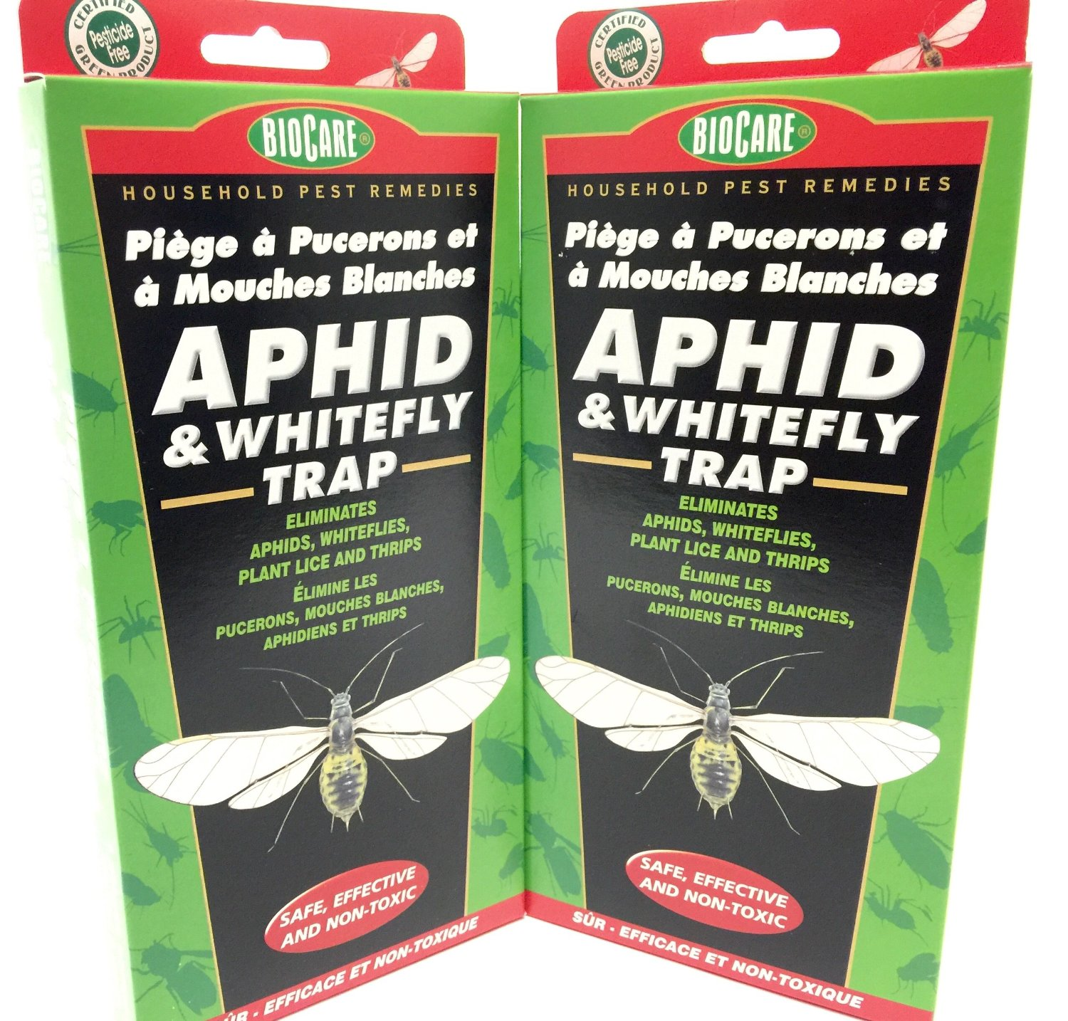 2 Pack - BioCare Household Pest Remedies APHID & WHITEFLY TRAP - Safe, Effective and Non-toxic