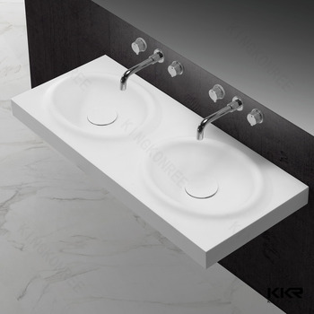 Used Bathroom Sinks : ... Sinks Bathroom Used Long Counter Wash Basin,Double Sink Wash Basin