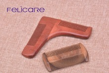 natural Home Beard care sandalwood beard shaping comb