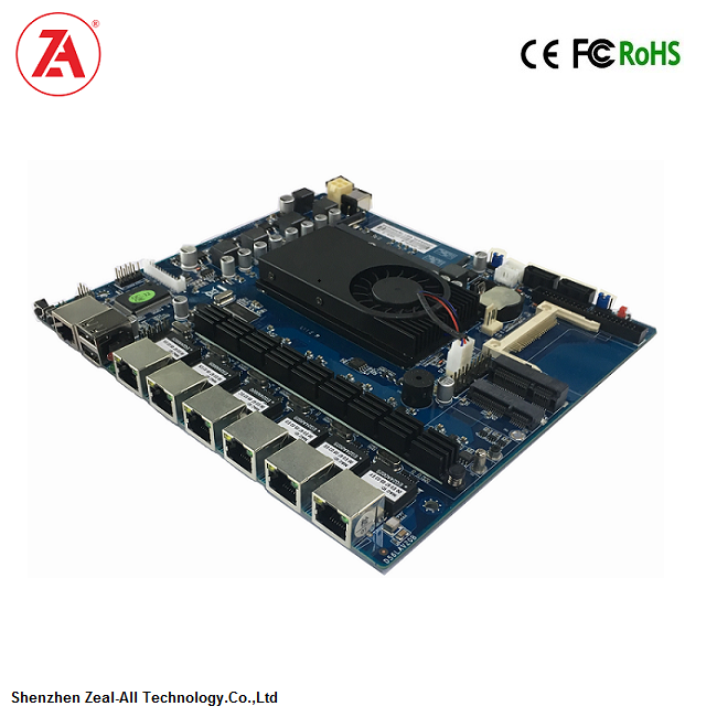 Firewall motherboards based on ATOM D525 6 LAN ports Mini itx motherboard with 6 Intel WG82582 10/100/1000M ethernet ports