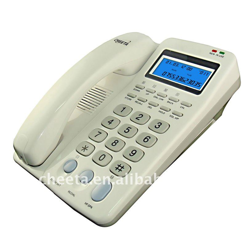 Caller ID telephone with brand name